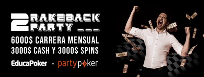 2 Rakeback Party: clasificaciones provisionales (07/02)