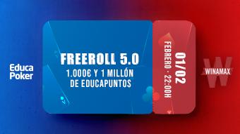 Recibimos a EducaPoker 5.0 dando 1.000 €, 1,2M de EPs y regalos con un freeroll en Winamax